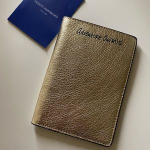 New Rebecca Minkoff Passport Holder in light gold